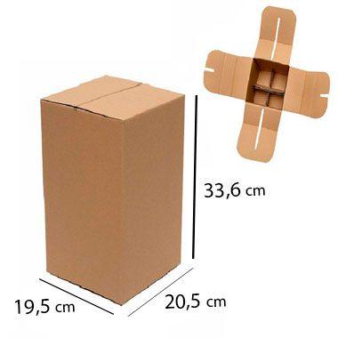 Caixa de Papelão para 4 Garrafas de Cerveja e Vinho - C:20 x L:19 x A:33,6 cm (Kit 5 c/ unidades)