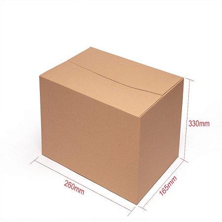 Caixa de Papelão para Transporte e Mudança - C:26 x L:16 x A:33 (Kit 5 Peças)