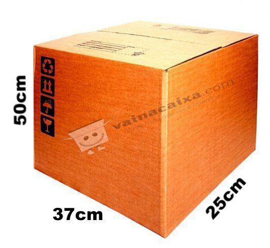 Caixa de Papelão para Transporte e Mudança Reforçada - C:37 x L:25 x A:50 (5 Peças R$6,99/Pç)