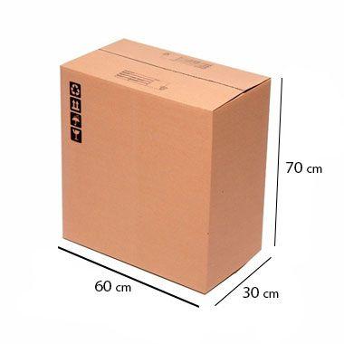 Caixa de Papelão para Transporte e Mudança Reforçada - C:60 x L:30 x A:70 cm (Kit c/ 5 unidades)
