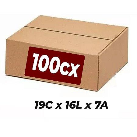 Caixa Papelão p/ Sedex Correio E-Commerce 19x16x7cm Kit 100 C