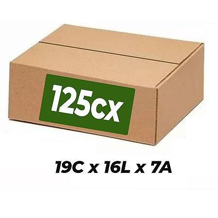 Caixa Papelão Sedex Correio E-Commerce C:19 x L:16 x A:7cm (Kit 125 Unidades)