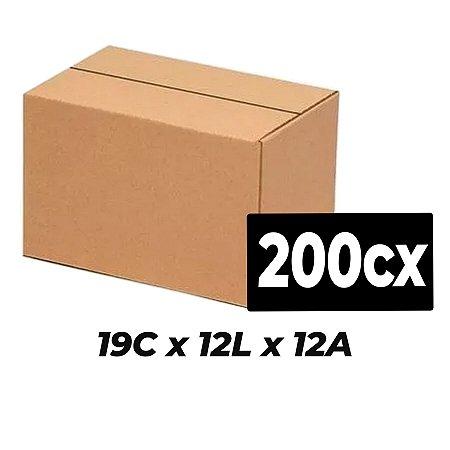 Caixa Papelão p/ Sedex Correio E-Commerce 19x12x12cm Kit 200 C