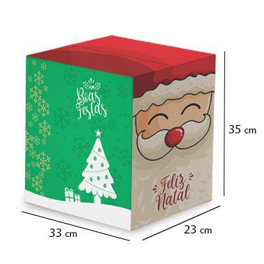 Caixa de Papelão para Cesta de Natal - Papai Noel - C:33 x L:23 x A:35 cm (Kit c/ 10 unidades)