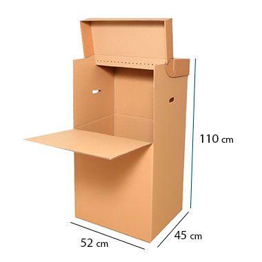 Caixa de Papelão Cabideiro para 15 Cabides - C:52 x L:45 x A:110 cm (1 unidade)