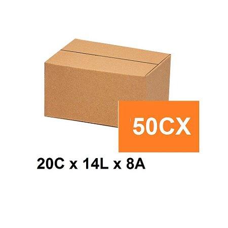 Caixa Papelão Sedex Correio E-Commerce C:20 x L:14 x A:8 (Kit 50 Unidades)