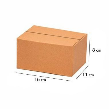 Caixa Papelão Sedex Correio E-Commerce C:16 x L:11 x A:8 cm (Kit c/ 50 unidades)