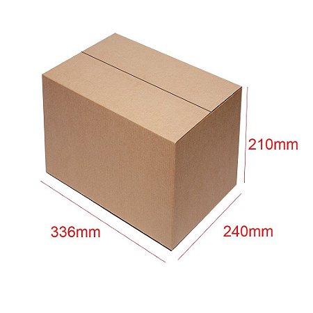 Caixa de Papelão para Sedex Correio e E-Commerce - C:33 x L:24 x A:21 (Kit 50 Peças)
