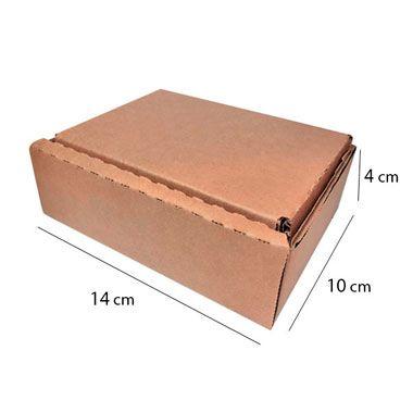 Caixa de Papelão para Sedex Correio e E-Commerce - C:14 x L:10 x A:4 cm (Kit c/ 50 unidades)