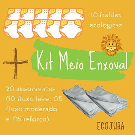 Kit Meio Enxoval - Kit Promocional de Fraldas Ecológicas EcoJuba