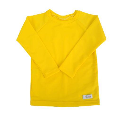Camisa Infantil de Proteção UV Amarela