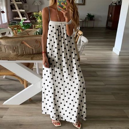 Vestido Feminino Longo Bohemian de Alcinhas Leve e Solto