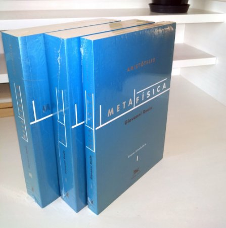COMBO Metafísica (3 volumes) - Aristóteles - Edição Bilíngue - Tradução de Giovanni Reale
