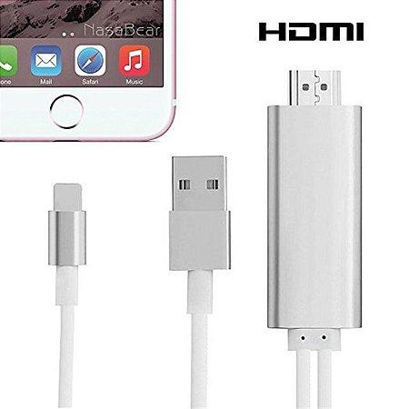 a38bd89a168 Cabo Dados Adaptador Hdmi Lightning Usb Apple Iphone Tv Ipad ...