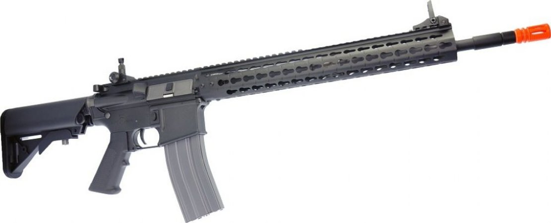 Fuzil Rifle Arma de Airsoft Elétrica G&G CM15 KR-APR 14.5