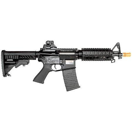 Fuzil Rifle Arma de Airsoft Elétrica APS M4 CQB Conception com Blowback