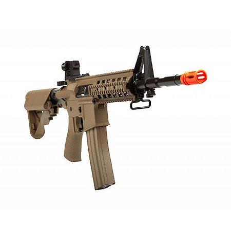 Fuzil Rifle Arma de Airsoft Elétrica G&G CM16 Raider L Desert Tan