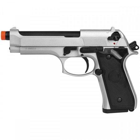 Pistola Airsoft GBB Gas Blowback Double Bell M9 Beretta 726Y Prata