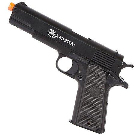 Pistola Airsoft Spring Colt M1911 A1 Slide Metal