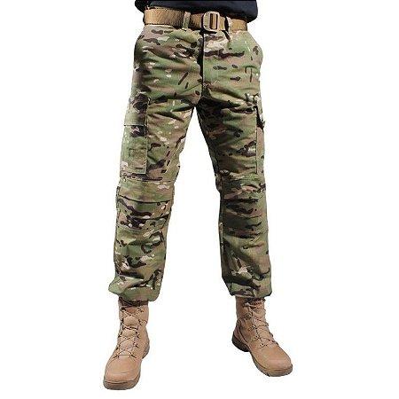 Calça Militar Tática Combat Bélica Multicam