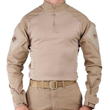 Camisa Militar Tática Combat Shirt Bélica Tan Coyote