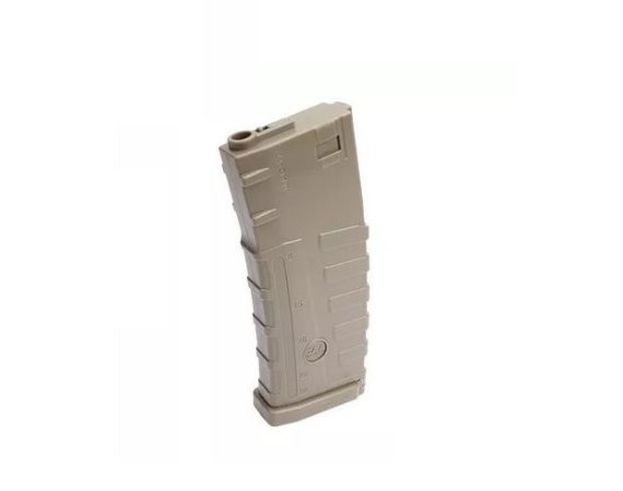 Carregador Magazine Mid Cap CAA Tactical M4 Tan em polímero