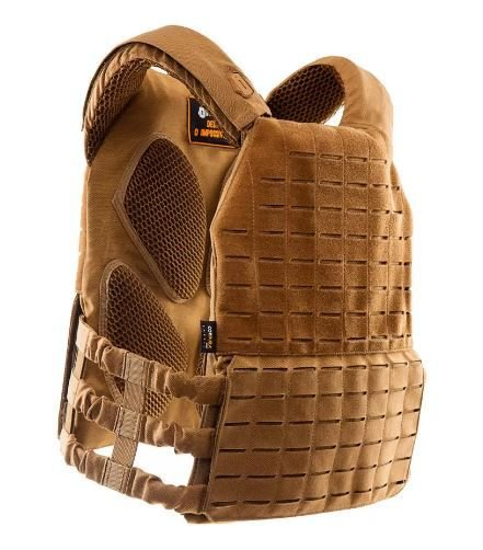 Colete Tático Militar Airsoft Invictus Plate Carrier Apolo Coyote