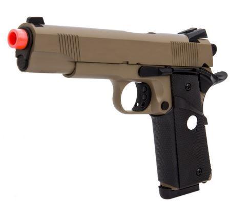 Pistola de Airsoft à Gás GBB Green Gás R27 M1911 TAN