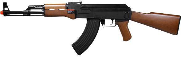 Fuzil Rifle Arma de Airsoft Elétrica G&G CM Rk 47 Imitation Wood