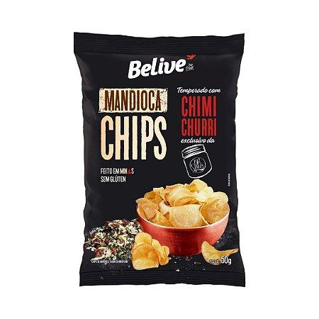 Mandioca Chips Be.Live com Chimichurri⠀