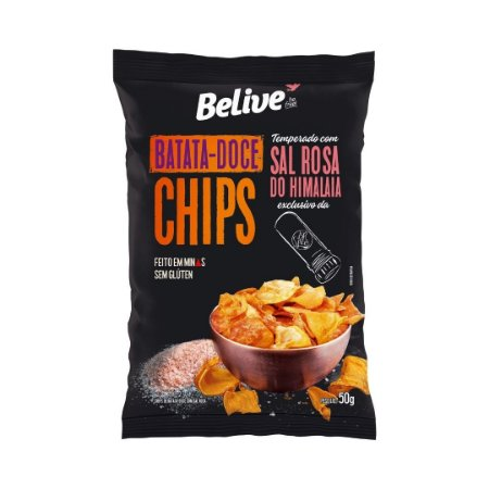 Batata-doce Chips Be.Live com Sal Rosa