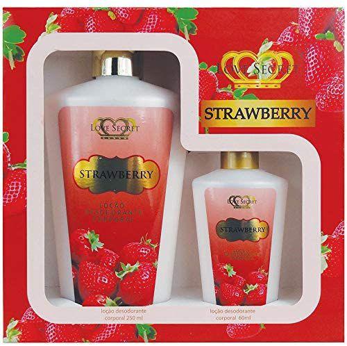 Kit Loção Desodorante Corporal Strawberry