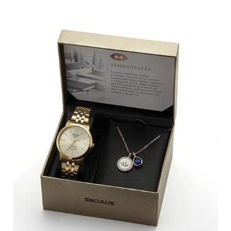 Kit Relógio Feminino Seculus Administração 20944Lpskds1K1