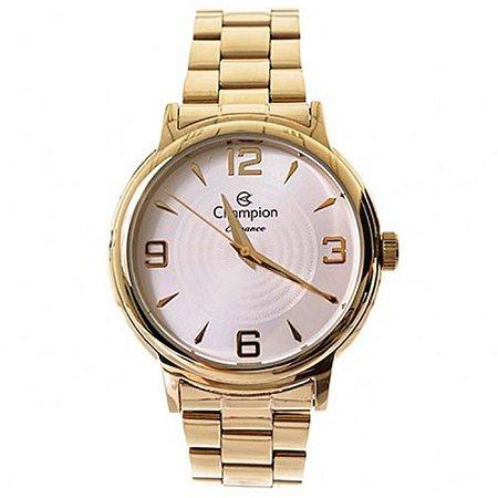 Relógio Feminino Dourado Champion Cn26126h
