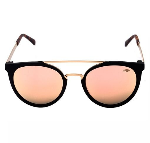 Mormaii Los Angeles - Óculos de Sol Preto Fosco e Dourado  Rosê Espelhado -  M0062 a97f4b1e37