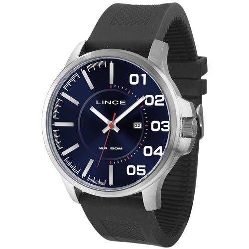 Relógio Lince Masculino Mrph033s D2px Preto com mostrador azul