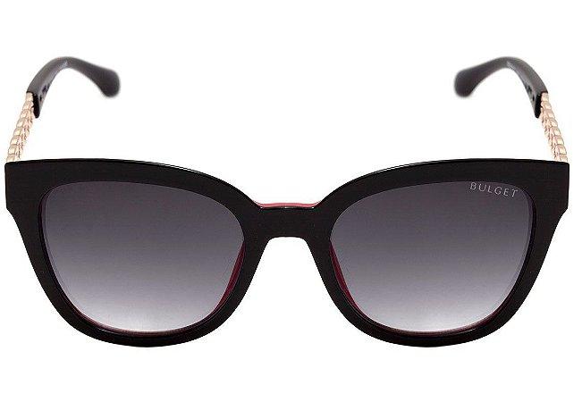 59a8534fdc2ce Bulget BG5122 - Óculos de Sol A01 Preto e Vermelho Brilho  Preto Degradê