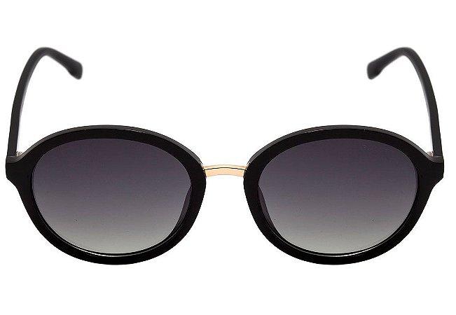 94a098857 Óculos de Sol Bulget Preto Brilho Degradê Polarizado BG5096 A01 ...