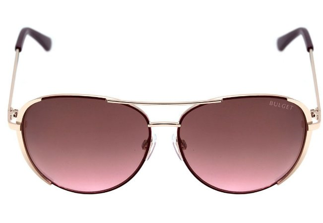 aaaaba679 Óculos de Sol Bulget Vinho e Prata Brilho Degradê BG3202 04B - Ótica ...