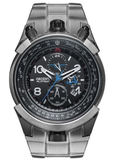 Relógio ORIENT Cronógrafo Flytech MBTTC008 Titanium