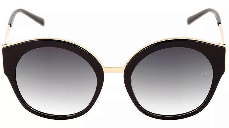 Óculos de Sol Ana Hickmann Preto e Dourado Ah9218