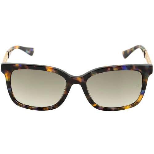 Óculos de Sol Ana Hickmann Cores mescladas Haste Dourada AH9227
