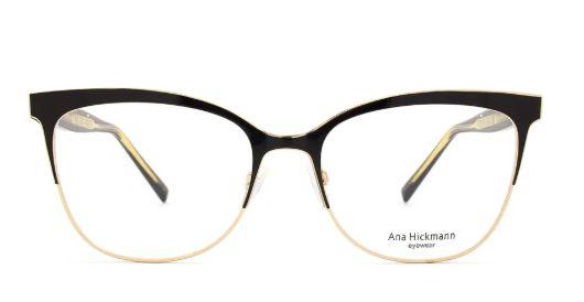 Armação Ana Hickmann ah1347 Preto com Dourado
