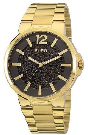 Relógio Euro Dourado slim