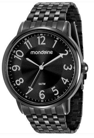 Relógio Mondaine Preto Slim