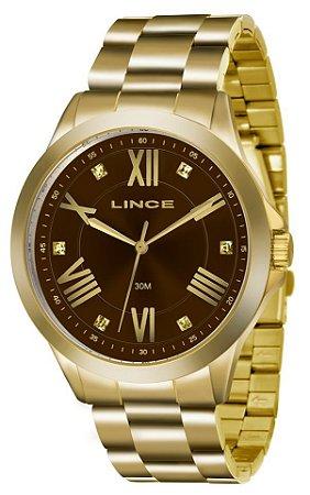 Relógio Lince Feminino Dourado Analógico