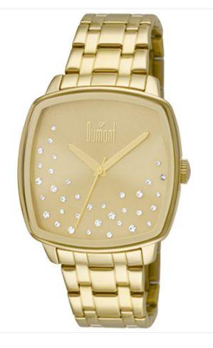 Relógio Dumont Feminino Dourado Analógico