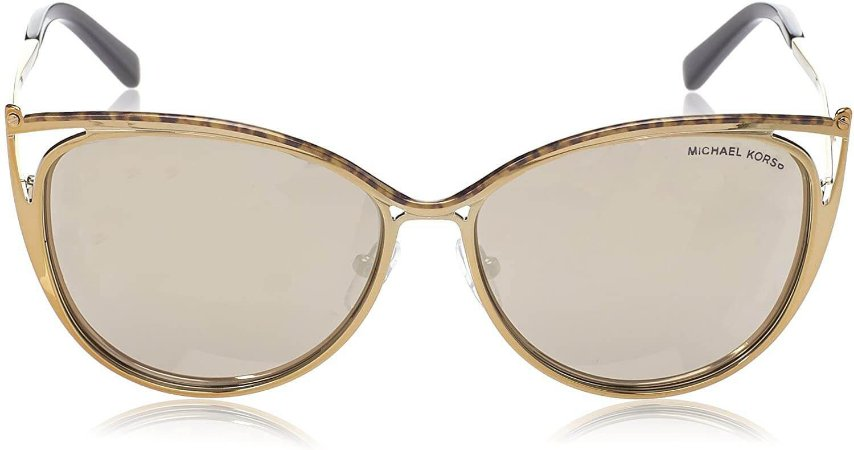 Óculos de Sol Michael Kors Ina Dourado Gatinho - MK1020