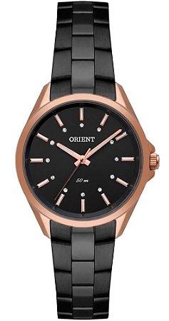 Relógio Orient Feminino Preto e Rosé FTSS0069