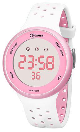 Relógio Feminino X-Games Branco e Rosa XFPPD040